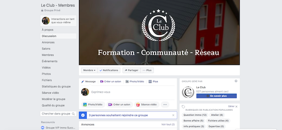 Le Club Groupe Facebook & WhatsApp